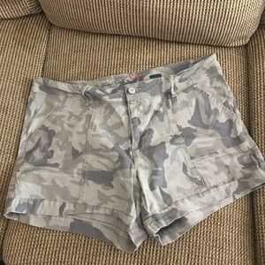 Camouflage Faded Glory Denim Jean Shorts